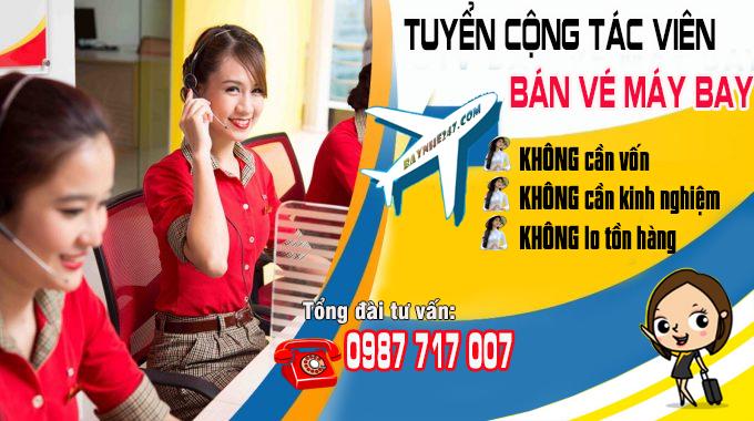 Baynhe247.com tuyển cộng tác viên bán vé máy bay