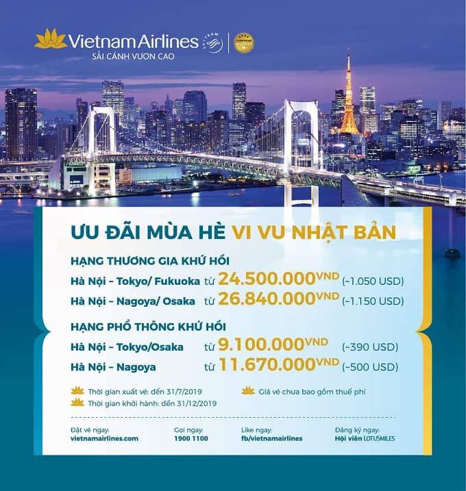 Chỉ từ 390 USD, có ngay vé khứ hồi Vietnam Airlines khám phá mùa hè xứ Phù Tang!