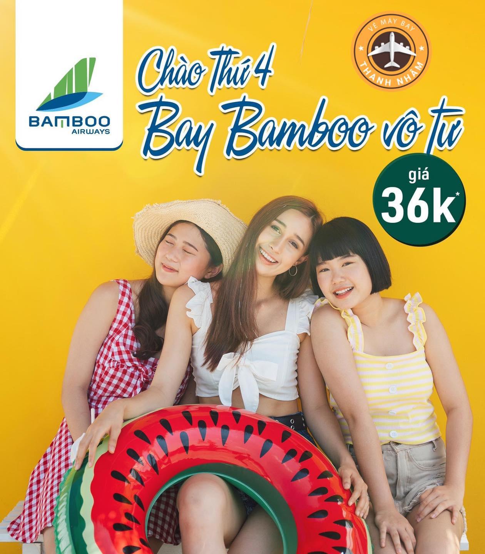Thứ 4 đến rồi – book vé chỉ 36k của Bamboo Airways thôi
