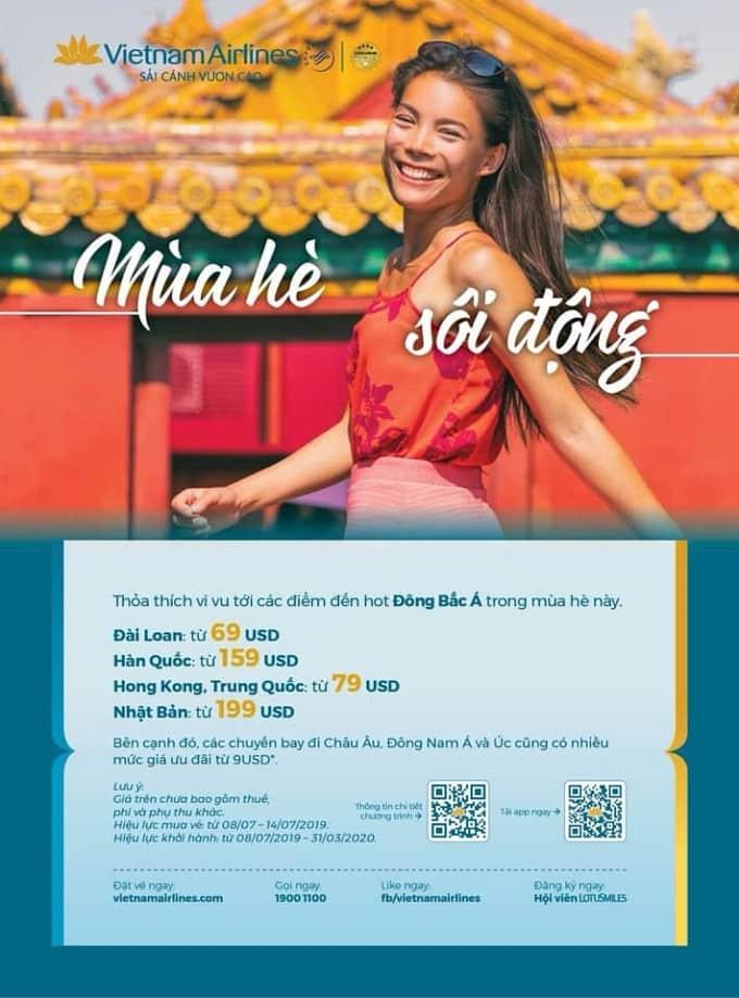 Từ 8/07/2019, Vietnam Airlines mở bán ưu đãi