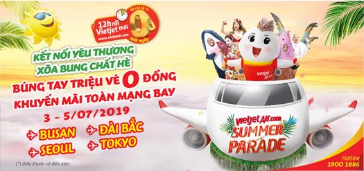 Vietjet Air - Búng Tay Có Ngay Triệu Vé 0 Đồng Xõa Tung Mùa Hè